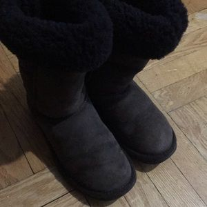 Woman's ugg boots dark brown UGG winter boots